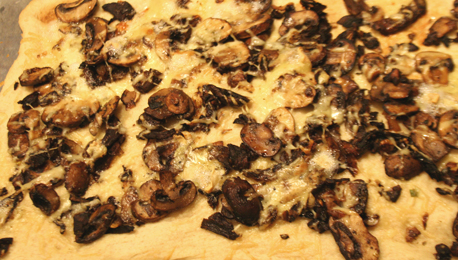Mushroom Brie Pizza with White Truffle OIl
