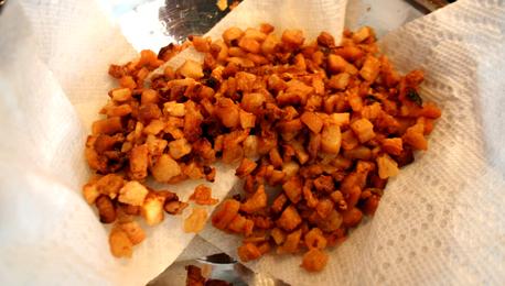 Pork Cracklings, fresh from the fryer
