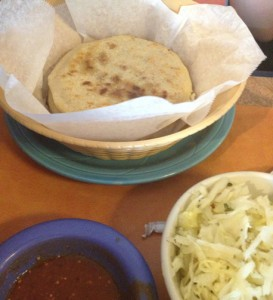 Pupusas and curtido