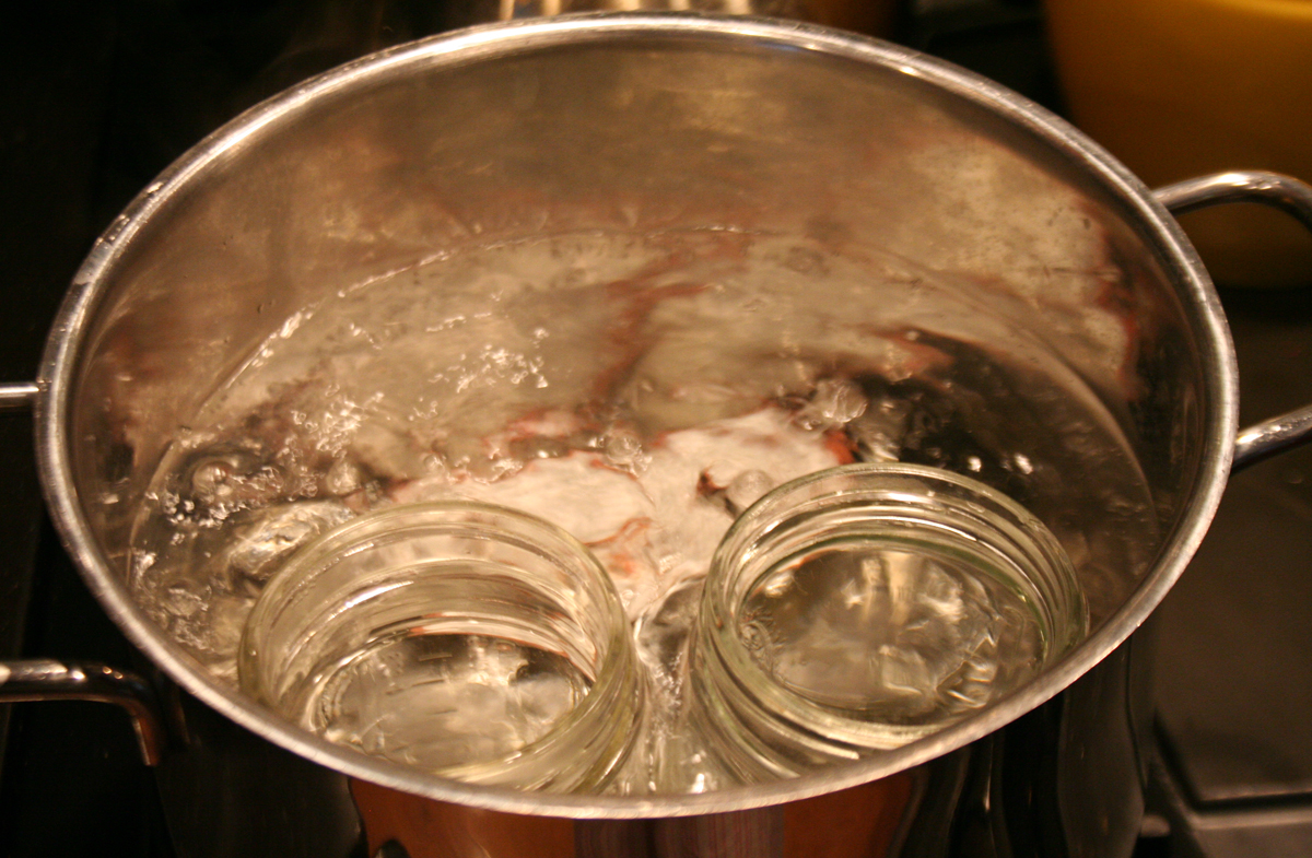 You have to sterilize your canning jars before filling them.