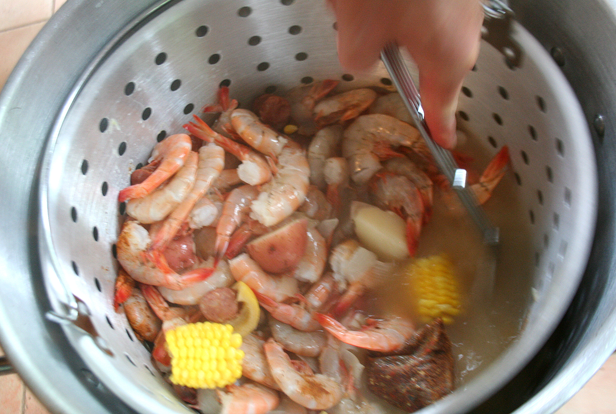 AddingTheShrimp Carolina style Low Country Shrimp Boil