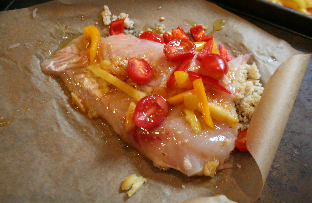 FishwithTomatoOil Fish in Parchment Paper (en Papillote)
