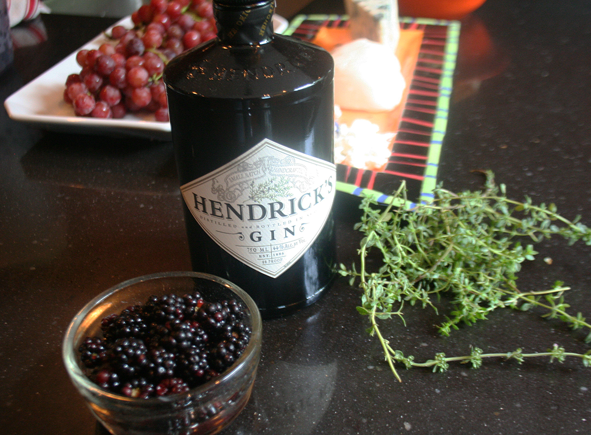 HendricksGinBerriesThyme Blackberry Thyme bramble cocktail