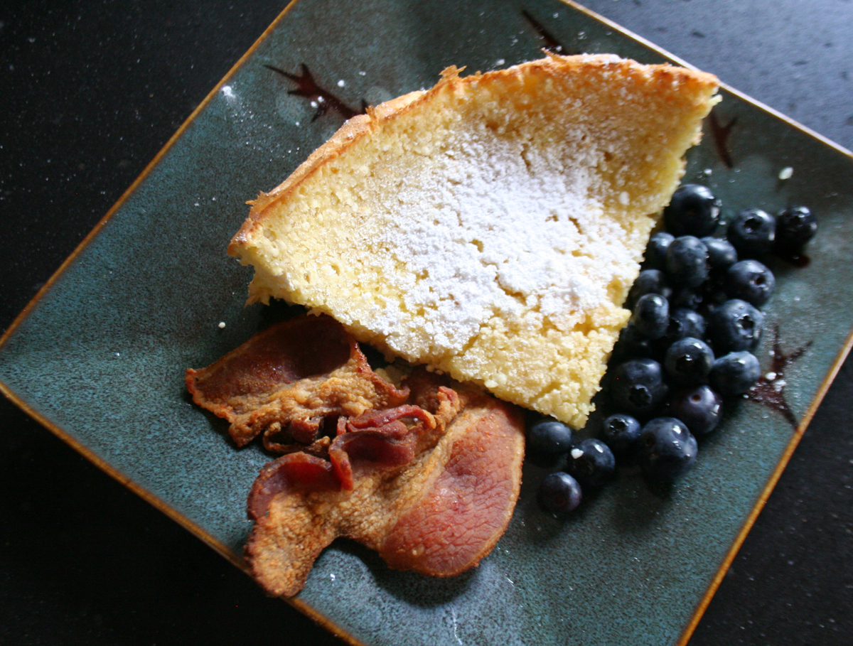 Slice of Dutch Baby Pancake