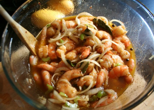 A Bowl of Pickled Shrimp