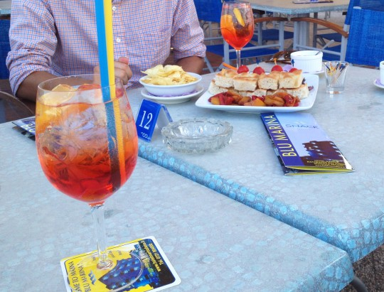 Seaside Aperol Spritz in Fano, Italy