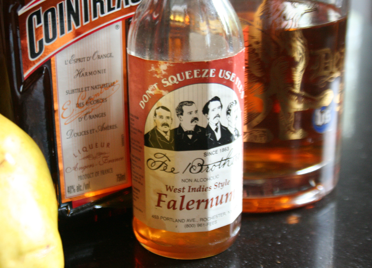 Falernum Autumn Pear Sidecar cocktail