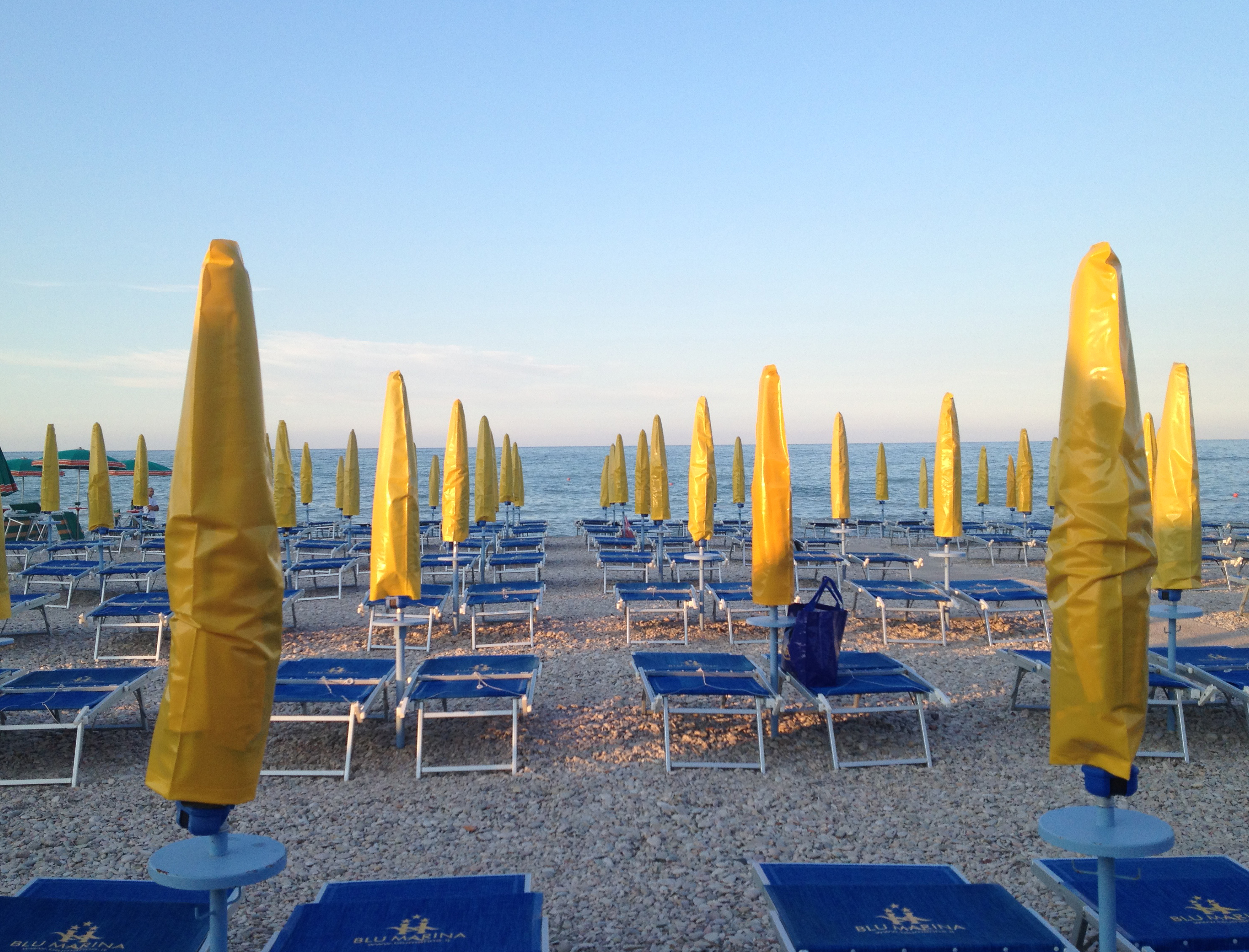 Beach in Fano, Italy