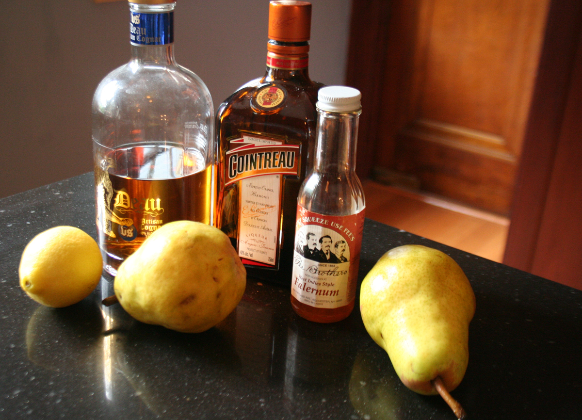 PearSidecarIngredients Autumn Pear Sidecar cocktail