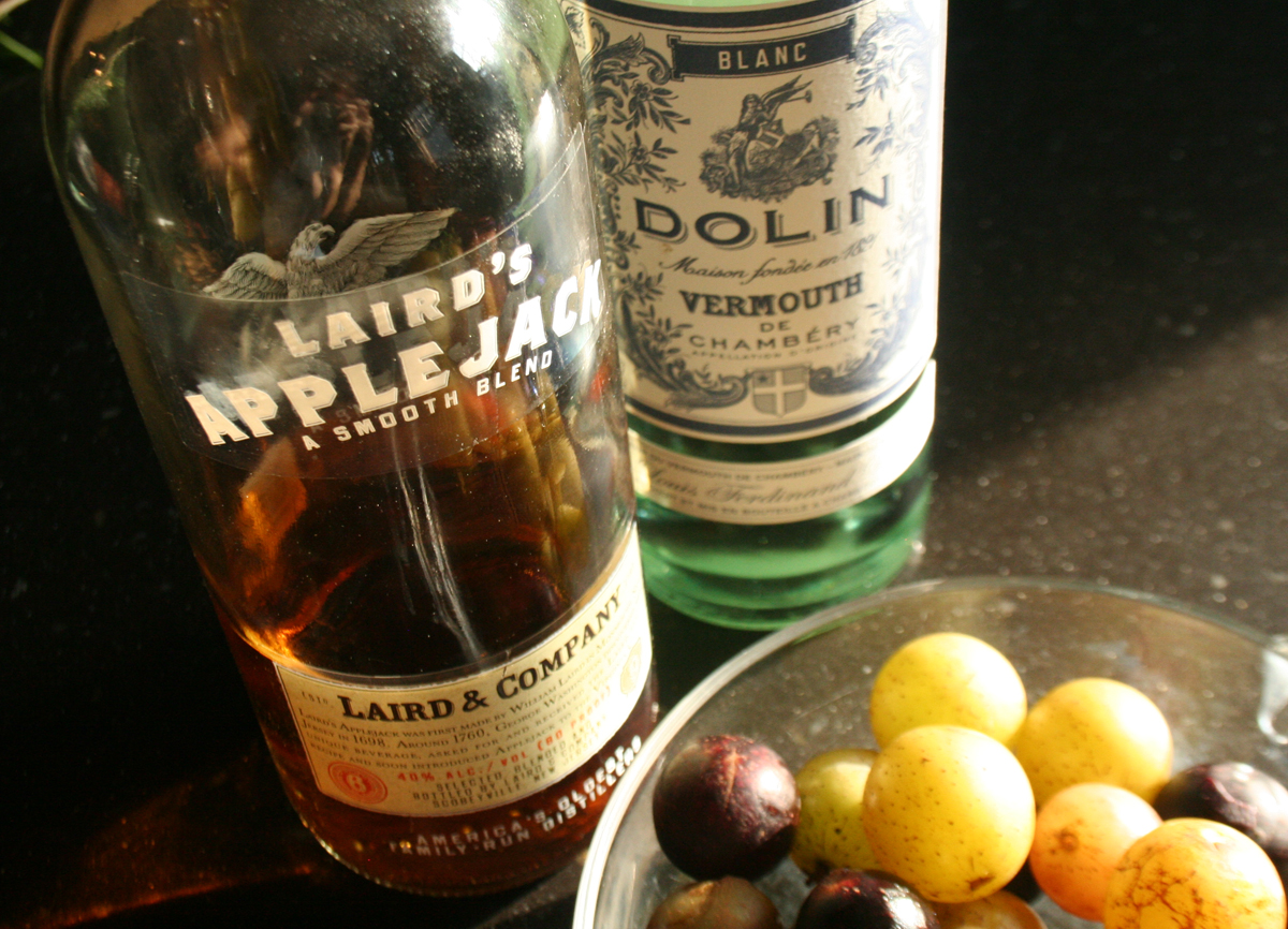 ApplejackVermouth Muscadine cocktail   using wild grapes for a fall cocktail