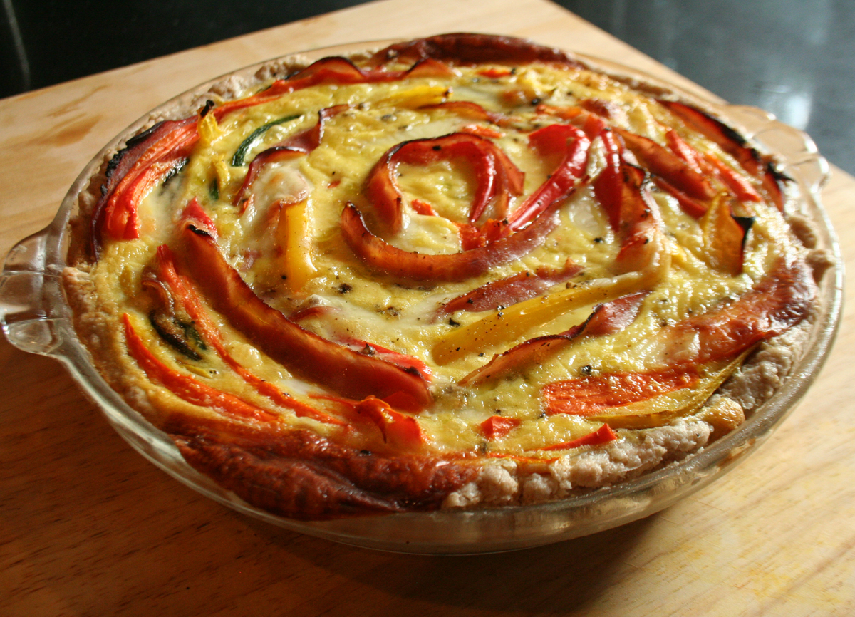Finished Rolled Ham & Vegetable Quiche