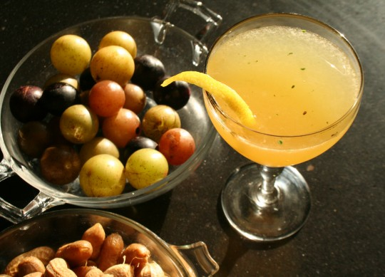 Muscadine Cocktail with boiled peanuts