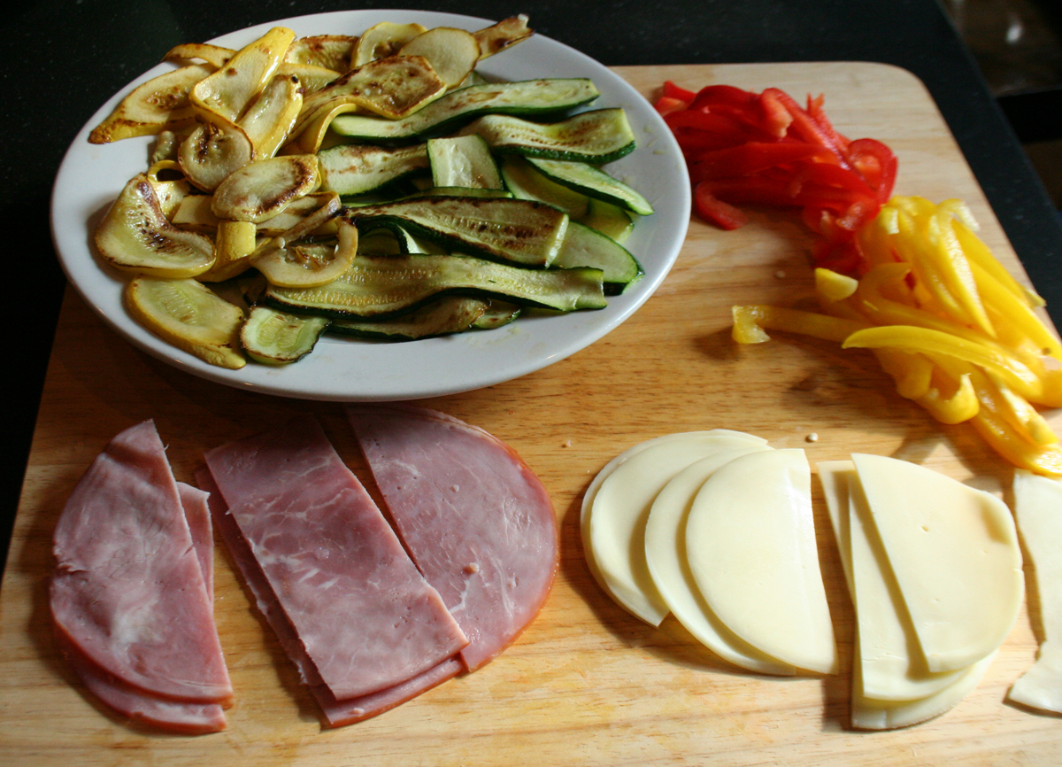 Ham Vegetable Quiche Ingredients