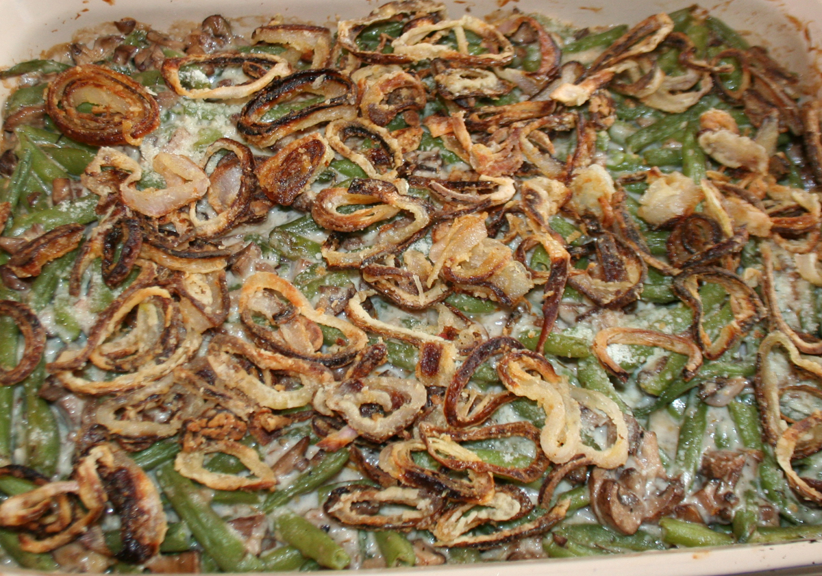 Fresh Green Bean Casserole from scratch
