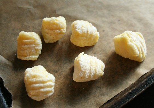 Freshly-made Potato Gnocchi, ready to cook