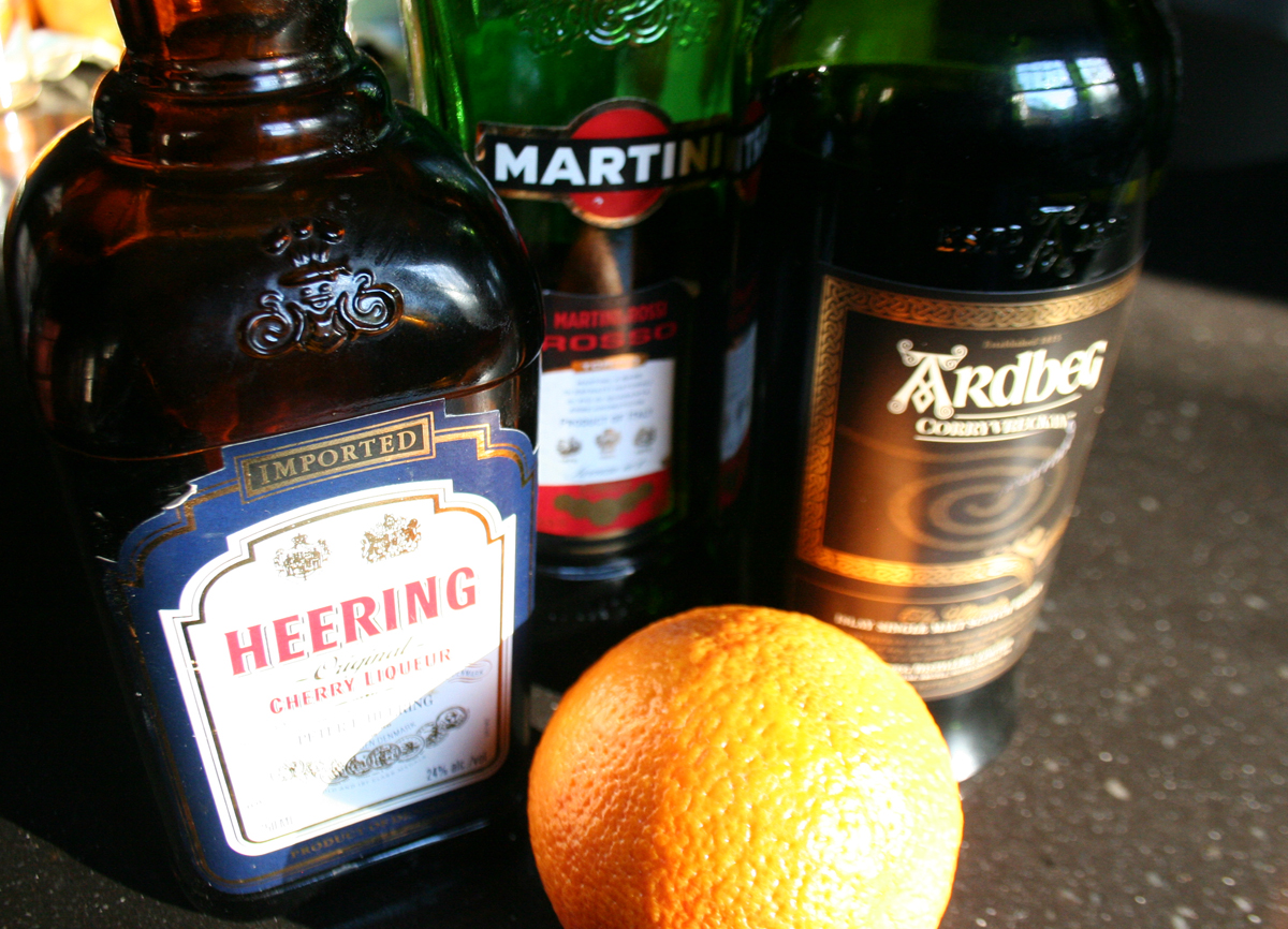 Blood and Sand Cocktail ingredients