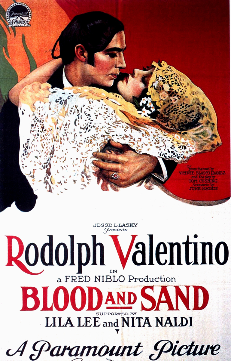 "Rudolph Valentino's ""Blood and Sand"" movie poster"