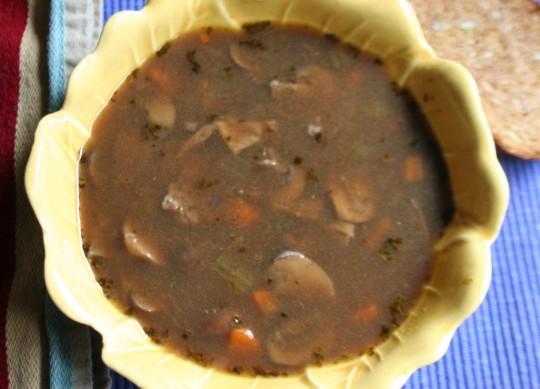 Porcini Mushroom Barley Soup