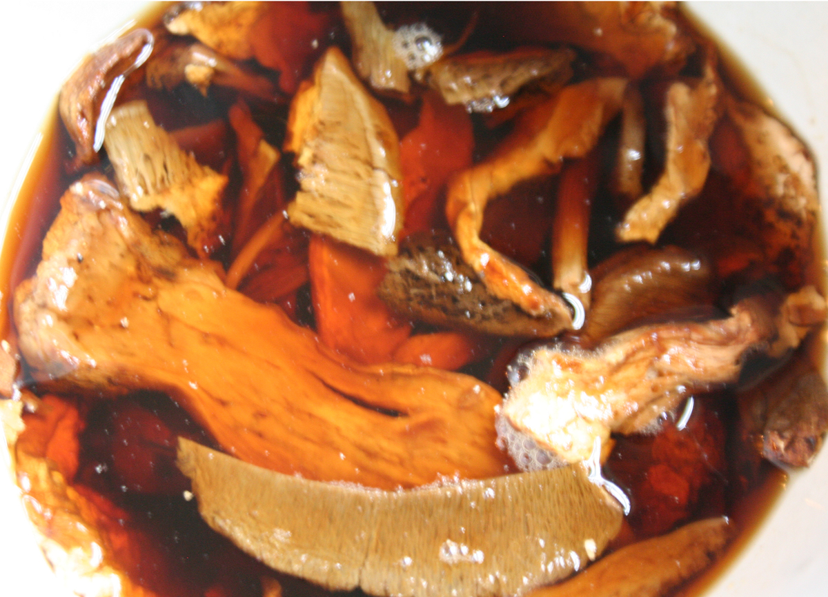 SoakingPorciniMushrooms Porcini Mushroom Barley Soup