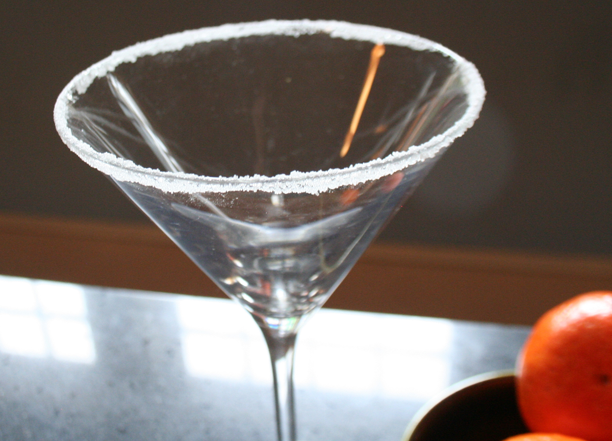 SugaredRim1 Tangerine Drop Martini