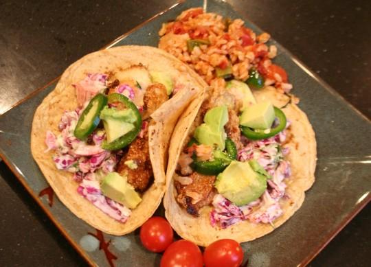 Baja-Style Fried Catfish Tacos
