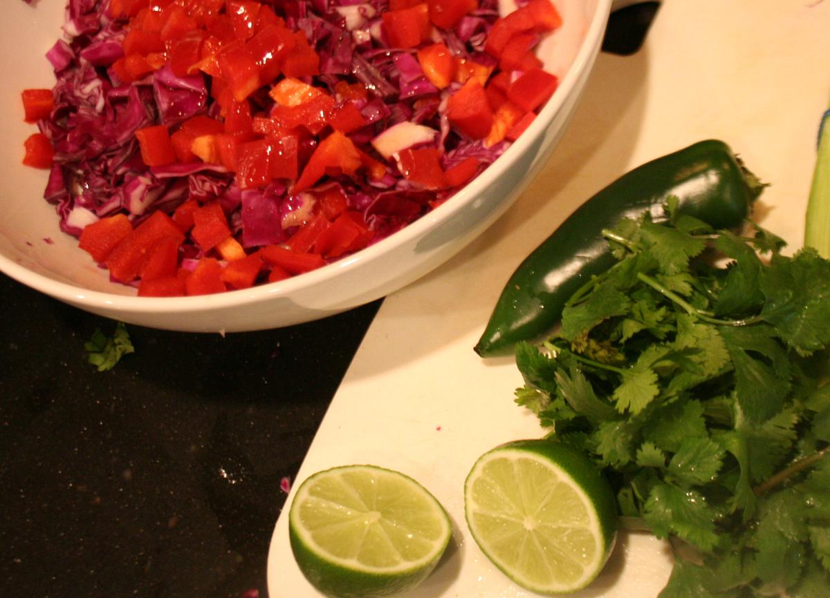 Baja Cole Slaw ingredients