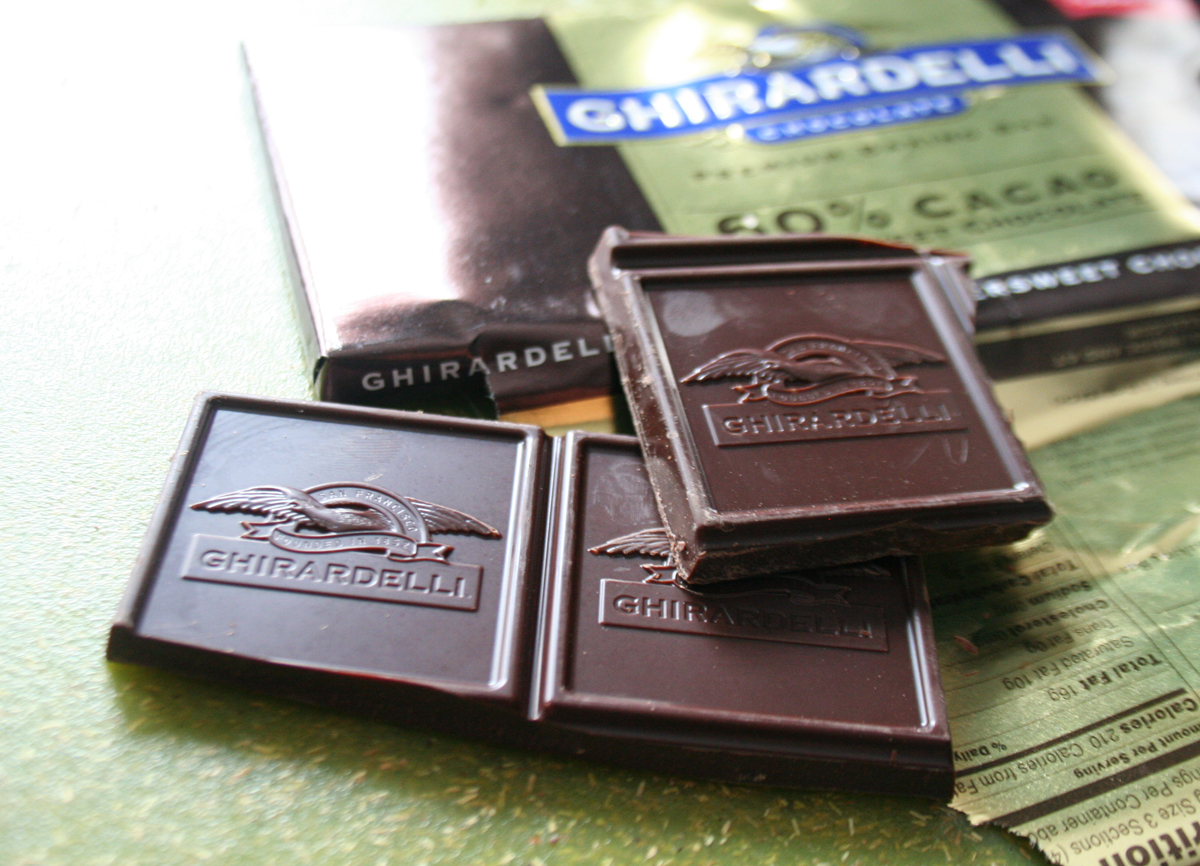 Ghiradelli Chocolate for homemade truffles