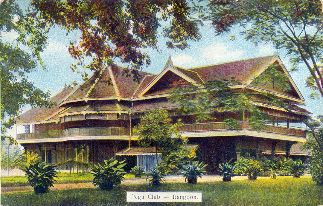 The Pegu Club in Rangoon, Burma