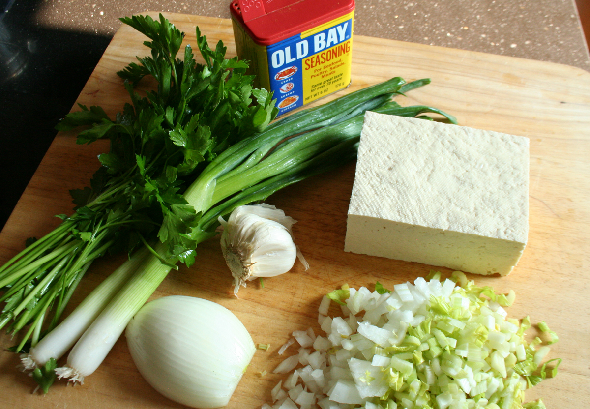 Ingredients for Tofu Crab Cakes