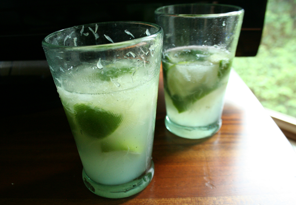 TwoCaiparihnas Caipirinha   celebrating the World Cup with Brazils national drink