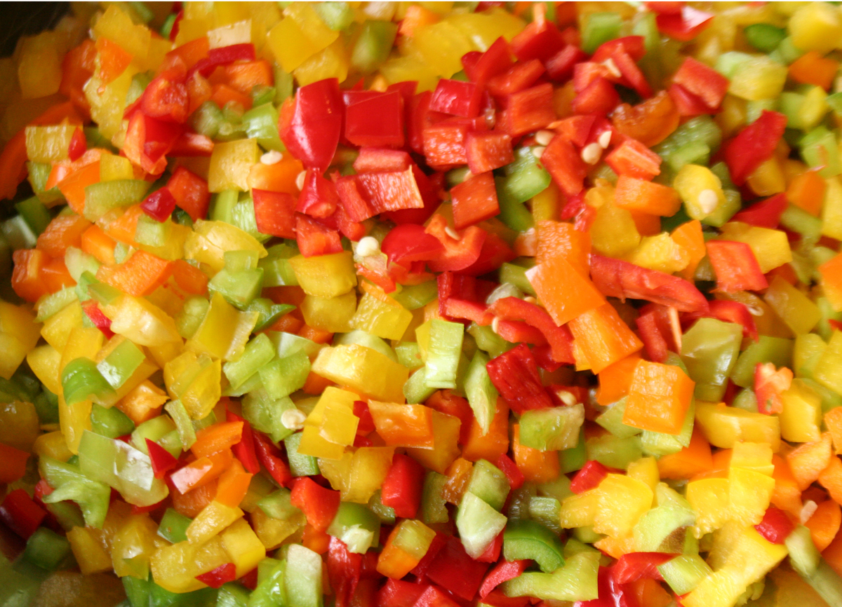 Small Diced Mixed Peppers for Piccalilli Pepper Relish
