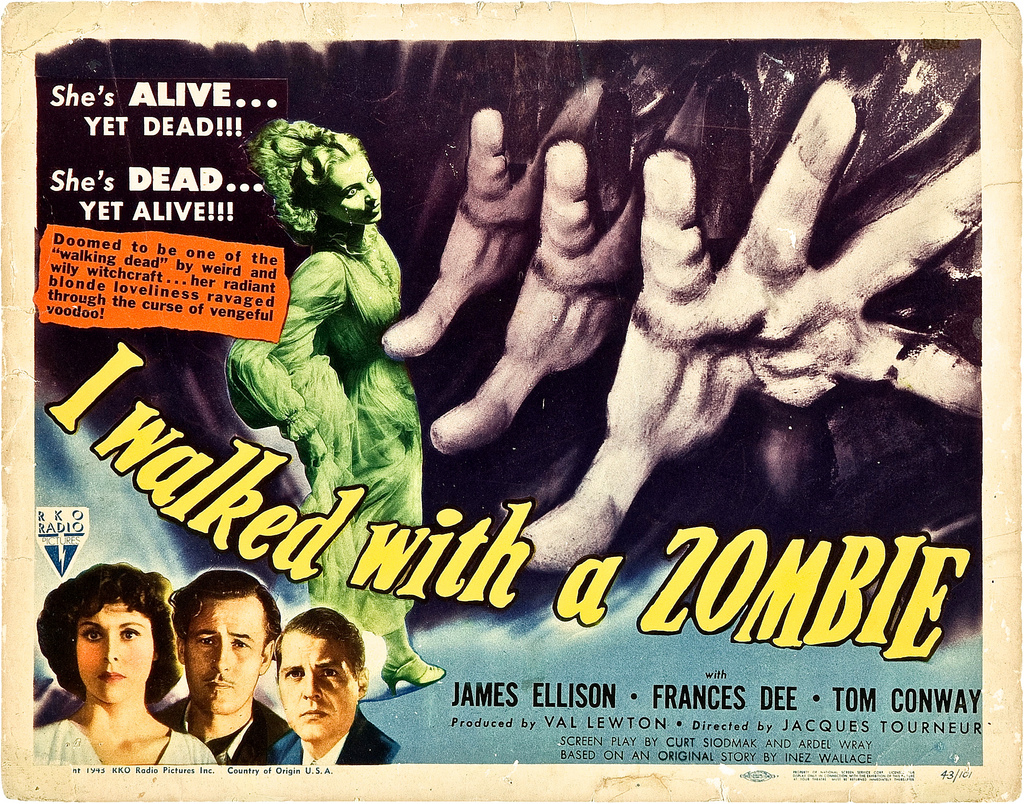 """I Walked with a Zombie"" movie poster"